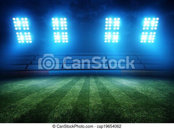 luces, fútbol, estadio - csp19654062