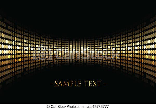 Fondo negro con luces doradas - csp16736777