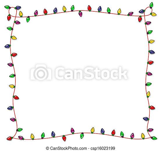 Fotografía de luces navideñas festivas - csp16023199