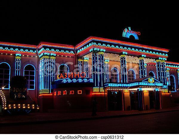 Luces de casino moscow - csp0631312