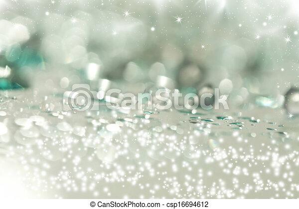 Abstraer el fondo navideño de luces navideñas - csp16694612