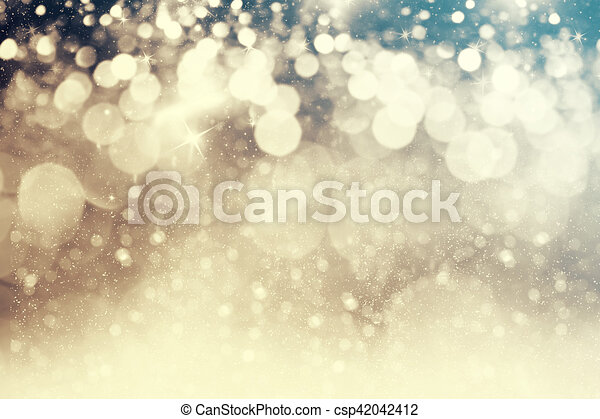 Abstraer el fondo navideño de luces navideñas - csp42042412