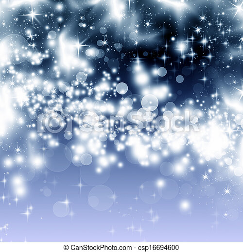 Abstraer el fondo navideño de luces navideñas - csp16694600