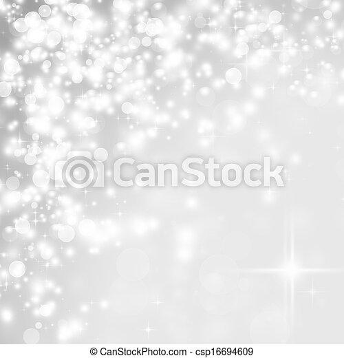 Abstraer el fondo navideño de luces navideñas - csp16694609