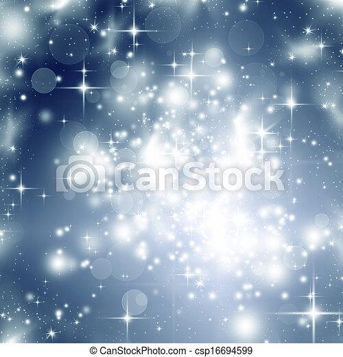 Abstraer el fondo navideño de luces navideñas - csp16694599
