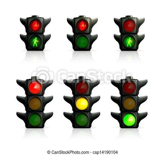 luces, tráfico - csp14190104