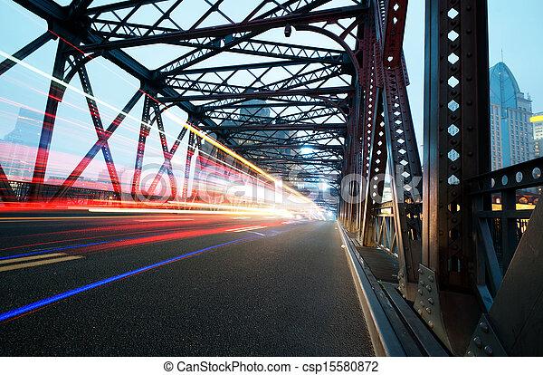 luces, tráfico, noche - csp15580872