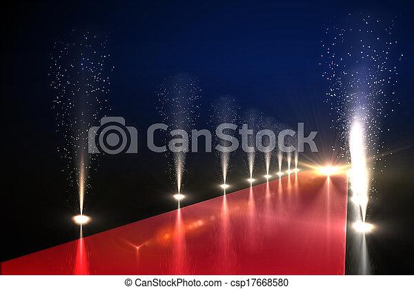Luces de la vida nocturna - csp17668580
