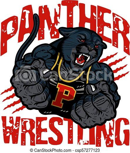 Lucha de panteras - csp57277123