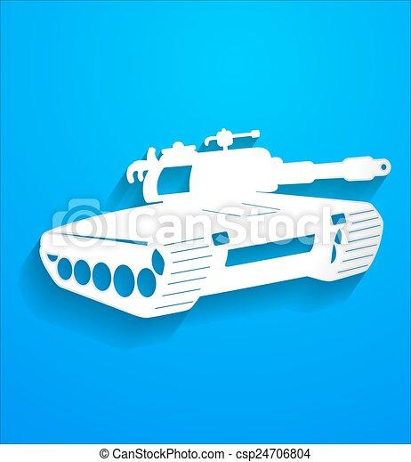 La forma del tanque de combate - csp24706804