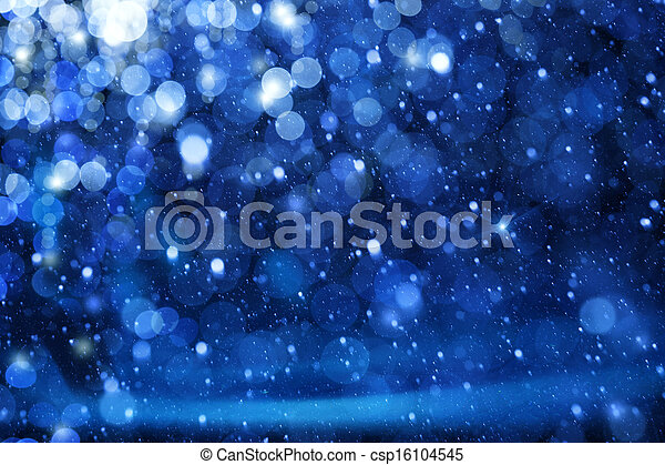 luci blu, arte, natale, fondo - csp16104545