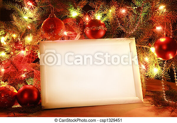 luci, cornice, natale - csp1329451
