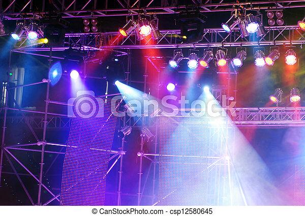 luci, palcoscenico - csp12580645