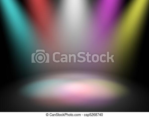 luci, palcoscenico, discoteca - csp5268740