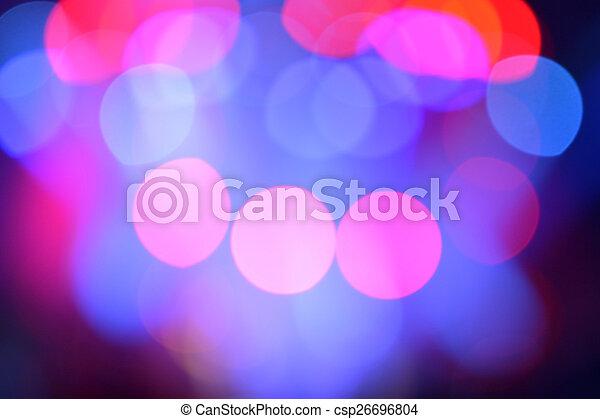 luci, sfocato, palcoscenico - csp26696804