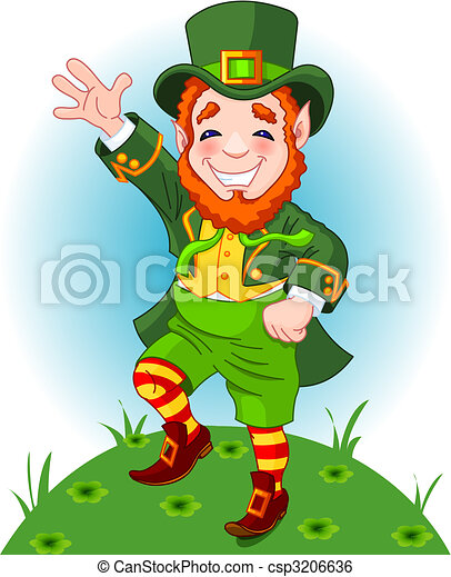 lucky dancing leprechaun full length drawing of a clip art rh canstockphoto com clipart leprechaun free leprechaun clipart animated