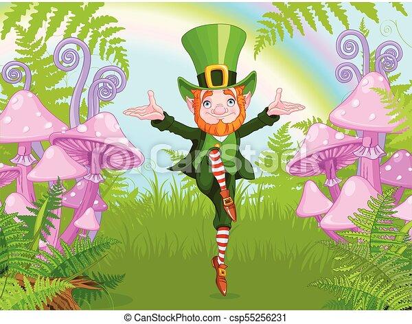 Lucky Dancing Leprechaun - csp55256231
