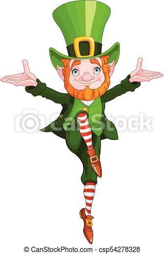 Lucky Dancing Leprechaun - csp54278328