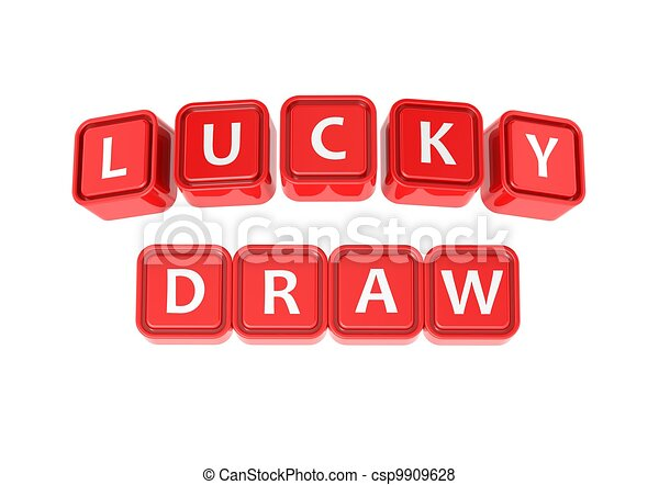 Lucky Draw Rendered Artwork With White Background