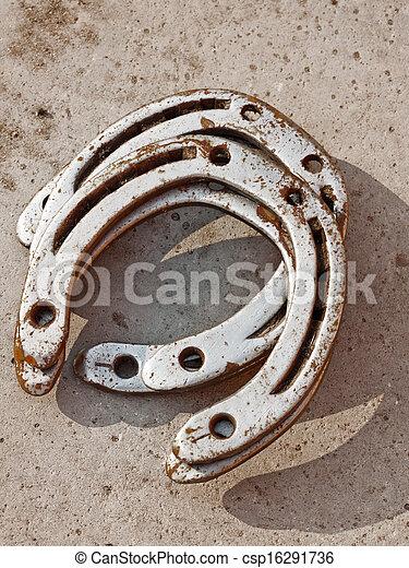 Lucky horseshoe background. - csp16291736