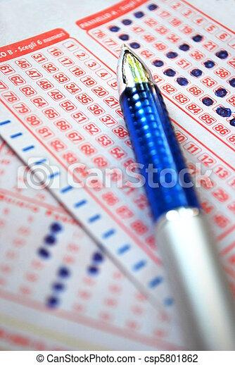 Lucky lottery ticket - csp5801862