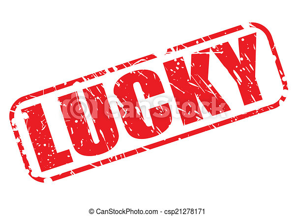 LUCKY red stamp text - csp21278171
