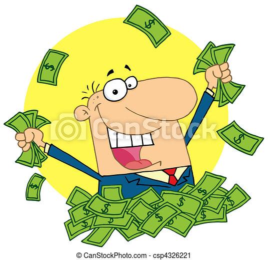 lucky rich man - csp4326221