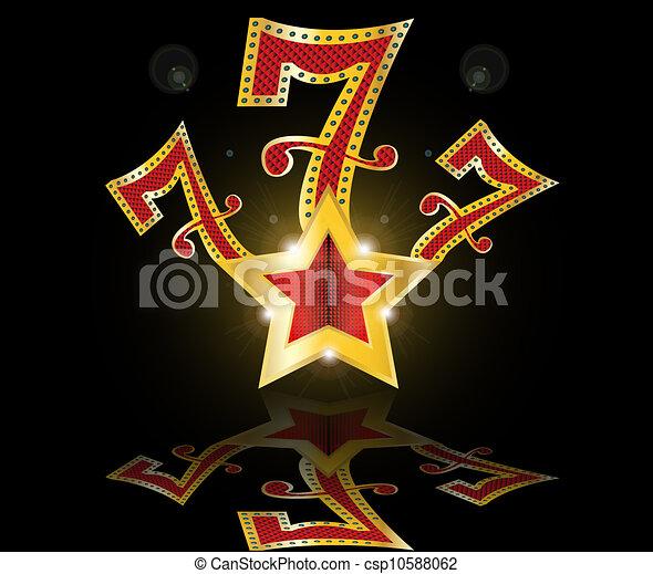 Lucky seven 777 jackpot vector illustration - Lucky number 7 wallpaper ...