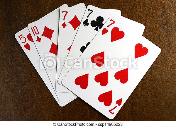 lucky seven poker hand - csp14905223