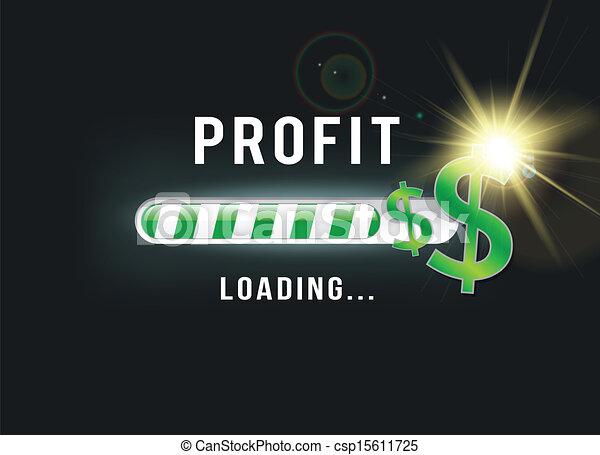 lucro, carregando, dólar, seu - csp15611725