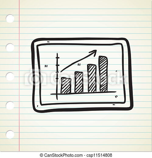 lucro, doodle, gráfico, mapa - csp11514808