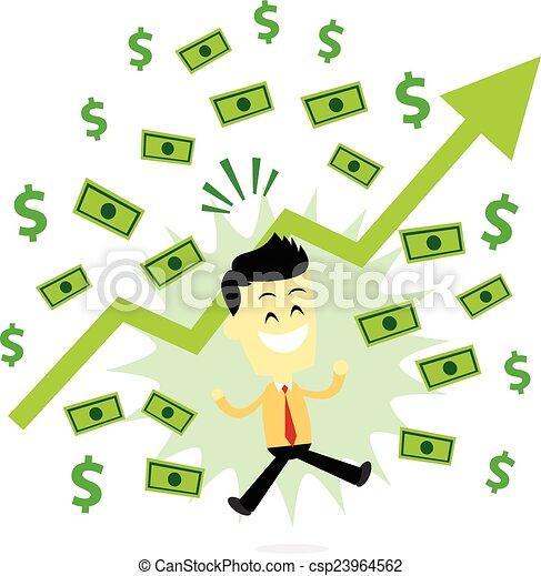 lucro, fazer, homem negócio - csp23964562