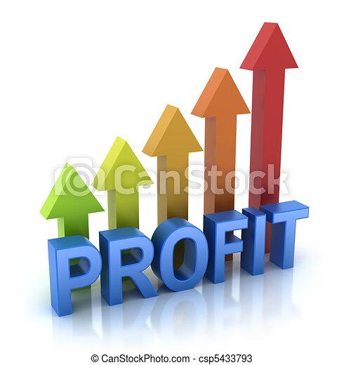 lucro, gráfico, conceito, coloridos - csp5433793