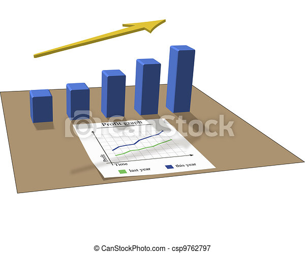lucro, gráfico - csp9762797