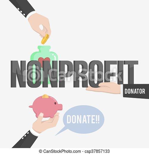 lucro, non, ilustração - csp37857133