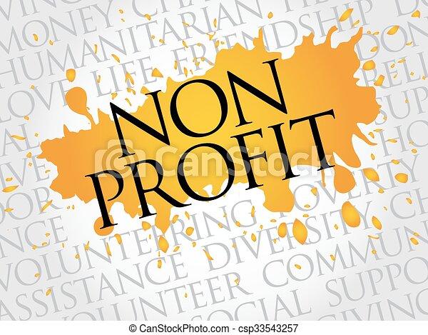 lucro, non, palavra, nuvem - csp33543257