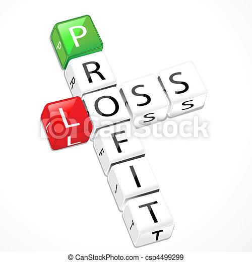 lucro, perda, bloco - csp4499299