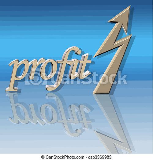 lucro, vetorial, aumentado - csp3369983