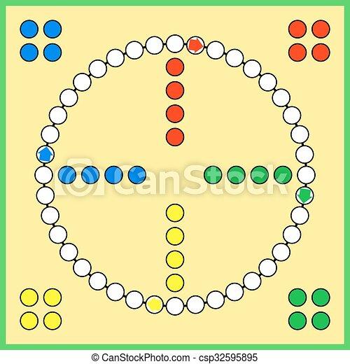 Ludo board game - csp32595895