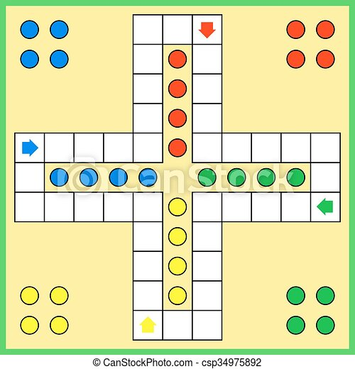 Ludo board game - csp34975892