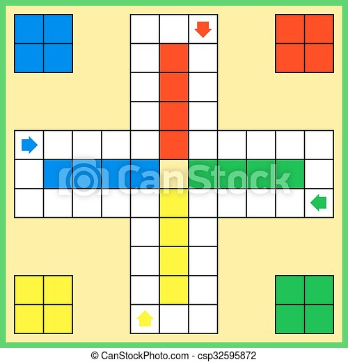 Ludo board game - csp32595872