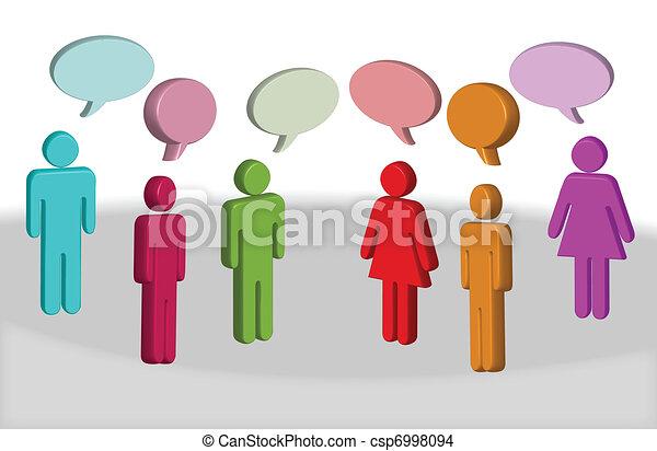 ludzie, chating - csp6998094