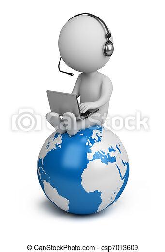 ludzie, globalny, -, dyrektor, mały, 3d - csp7013609