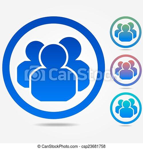 ludzie, grupa, ikona - csp23681758