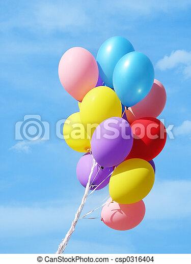 luftballone, bunte, ag - csp0316404