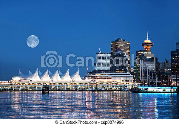lugar de canadá, vancouver - csp0874996