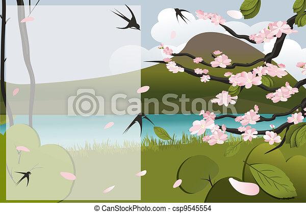 Escena de primavera - csp9545554