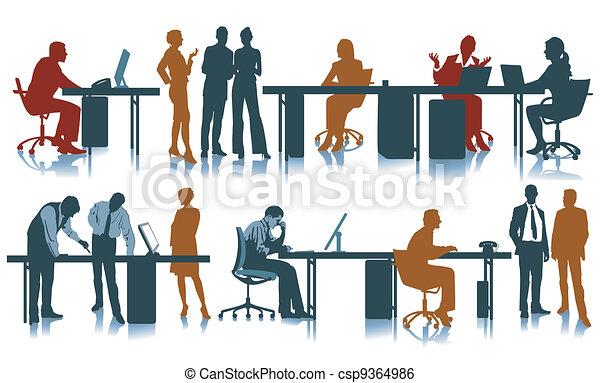 Trabajo de oficina - csp9364986