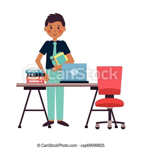 El lugar de trabajo de la gente - csp69096825