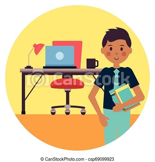 El lugar de trabajo de la gente - csp69099923